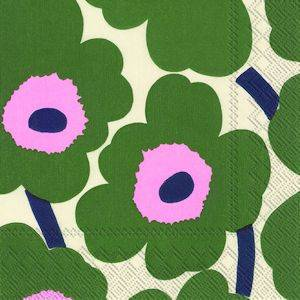 Bilde av Marimekko servietter Unikko dark green (flere