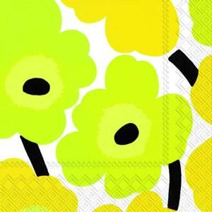 Bilde av Marimekko servietter Unikko gul (flere