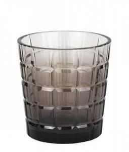 Bilde av Bella lysglass, sotet glass