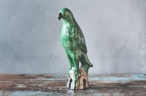 Bilde av Papegøye h 28 cm grønn eller