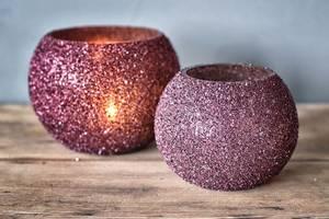 Bilde av Telysholder rund purpur