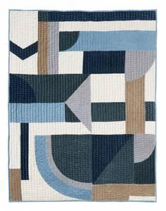 Bilde av PATCHWORK quilt, blue mix,