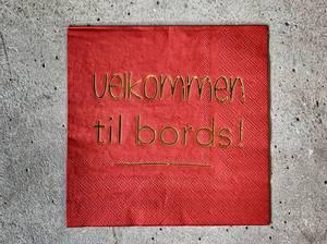 Bilde av Velkommen til bords rød m