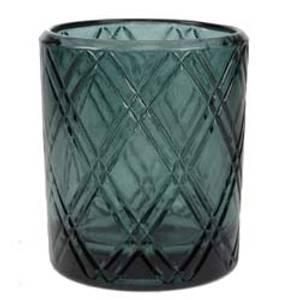 Bilde av Telysholder i glass m/mønster