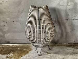 Bilde av Bordlykt grå/metall H:38cm