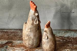 Bilde av Keramikkhøne brun stående