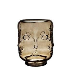 Bilde av Ansikt vase røkfarget