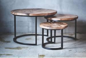 Bilde av Rundt bord s/3 mango/metall
