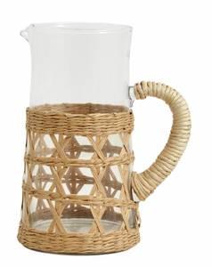 Bilde av WEVA pitcher, glass, rattan,