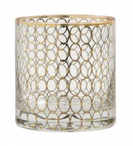 Bilde av Clear glass w. gold pattern