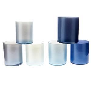 Bilde av T-lysholdere metallic ass blå