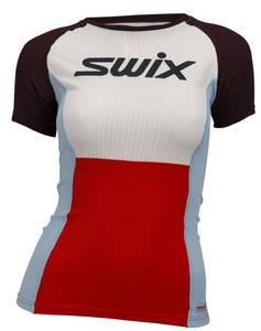 Bilde av SWIX RACEX BODYW T-SKJORTE DAME FIERY RED