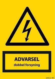 Bilde av Advarsel dobbel forsyning Solcelleanlegg A6
