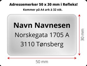 Bilde av Adressemerker i Reflex - 50 x 30 cm