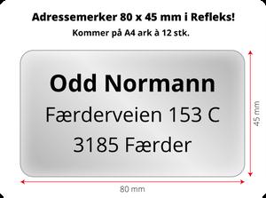 Bilde av Adressemerker i Reflex - 80 x 45 mm
