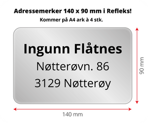 Bilde av Adressemerker i Reflex - 140 x 90 mm