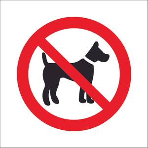 Bilde av Hund forbudt symbol