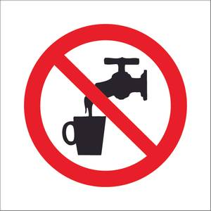 Bilde av Ikke drikk vannet symbol