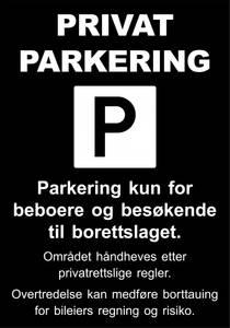 Bilde av 1010 Parkeringsskilt 70 x 100 cm
