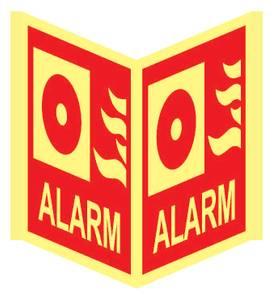 Bilde av Alarm Plogskilt 20 x 20 cm x2