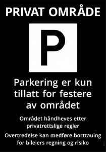 Bilde av 1012 Parkeringsskilt 70 x 100 cm