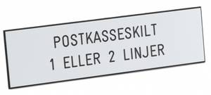 Bilde av Postkasseskilt 1-2 Linjer