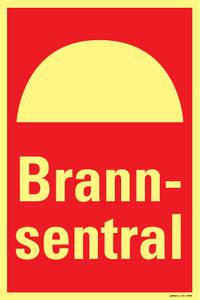 Bilde av Brannsentral (30 x 20 cm)