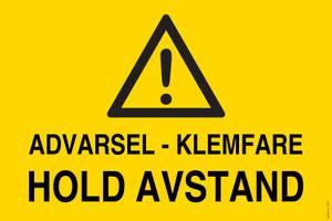 Bilde av Advarsel Klemfare - Hold Avstand