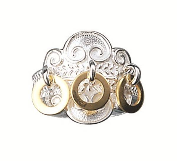Ring, kvit m. forgylt ringlauv artnr: 317503