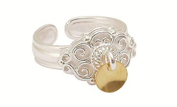 Ring, kvit m.forg.lauv artnr: 377502