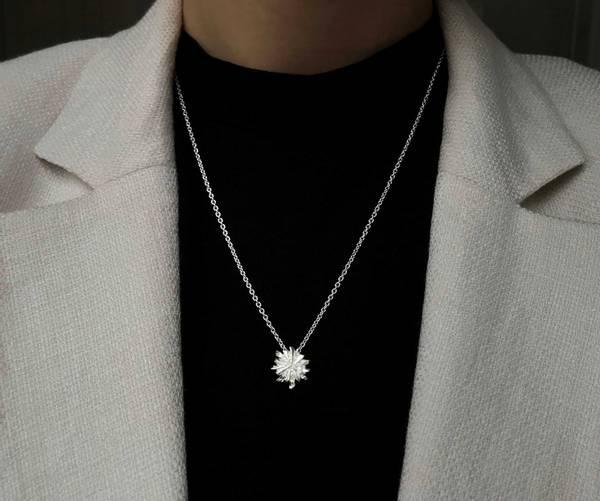 Smykke i sølv midnattssol