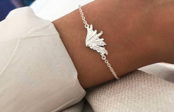 Armbånd i sølv nordlys