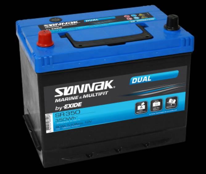 Bilde av Batteri 12V/80 amp Dual