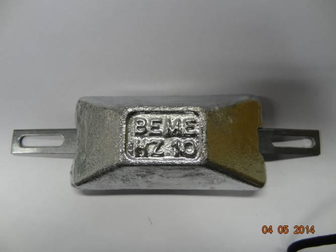 Bilde av Sink m/galv.stålskinne   ca. 1,0 kg