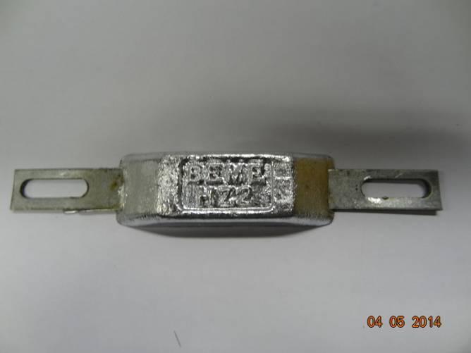 Bilde av Sink m/galv.stålskinne   ca. 0,2 kg