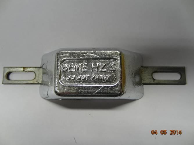 Bilde av Sink m/galv.stålskinne   ca. 0,5 kg