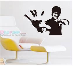 Bruce Lee vegg klistremerke