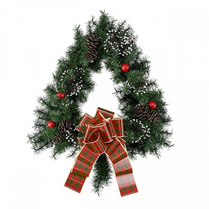 Bilde av Julekrans trekantet