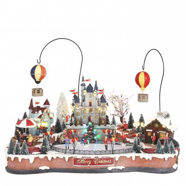 Bilde av Isbane, slott og luftballong - juleby Luvllle