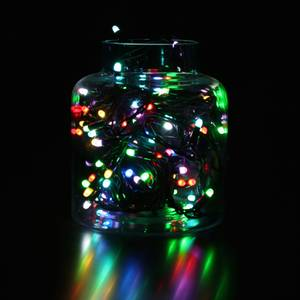 Bilde av Flerfarget lysslynge 10 meter RGB m/fjernkontroll. Gummikabel