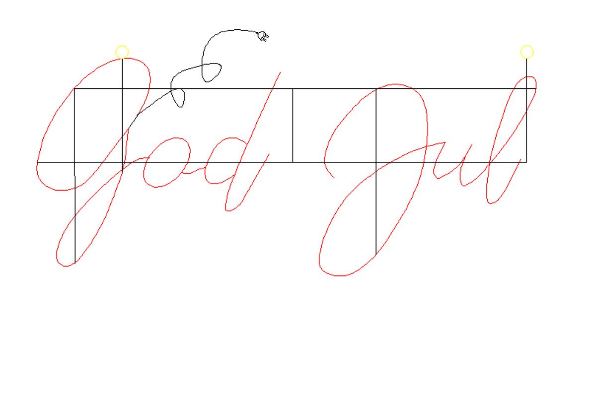 God Jul. Varmhvit LED-skilt 100x48cm