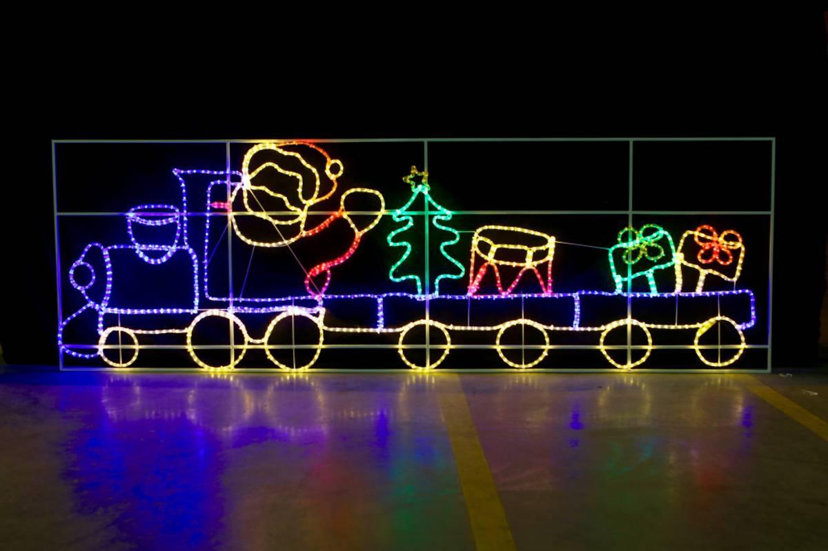Julenissetog 98x300 cm. Stor LED-figur