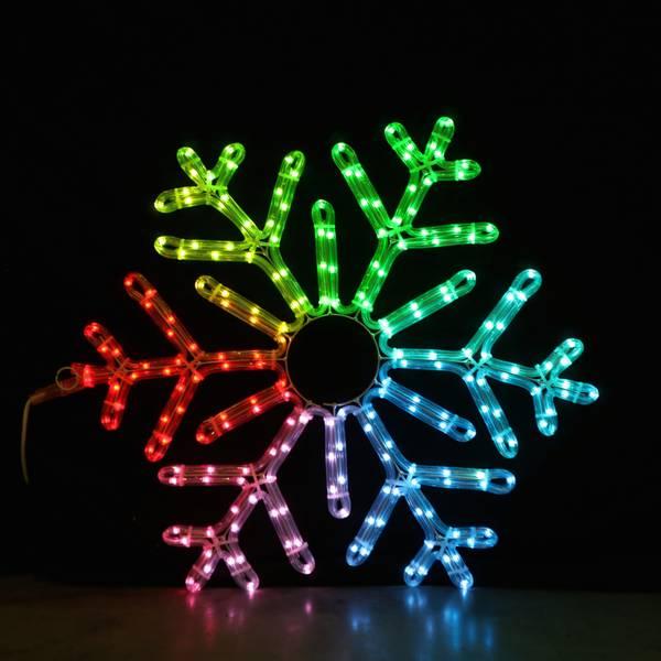 Bilde av Snøfnugg 70x70 cm m/fjernkontroll og smart-LED