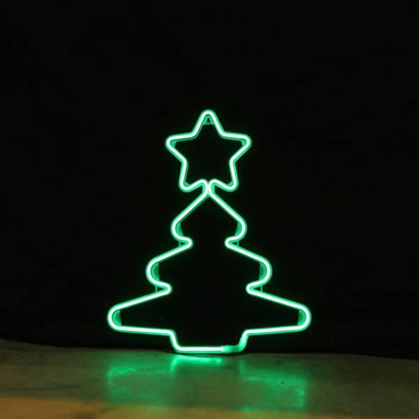Bilde av Juletre neon grønn 52x43 cm
