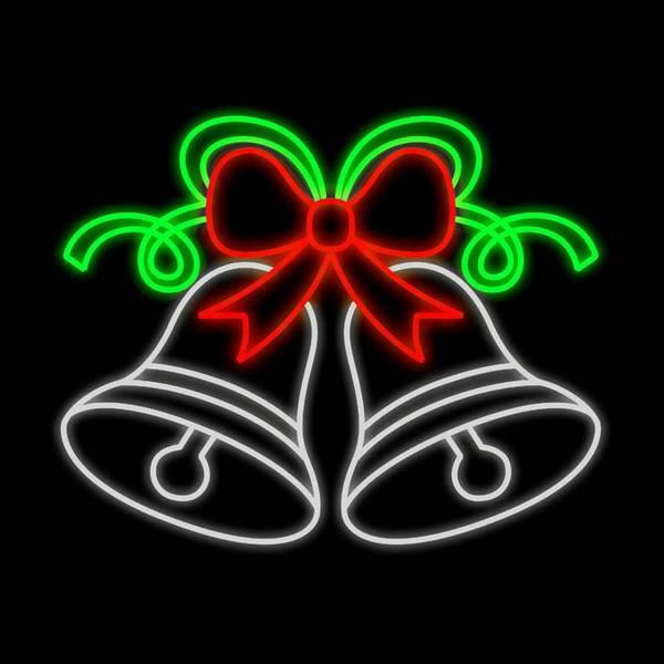 Bilde av Bjelle 126x150 varmhvit, rød og grønn - LED julelys utendørs