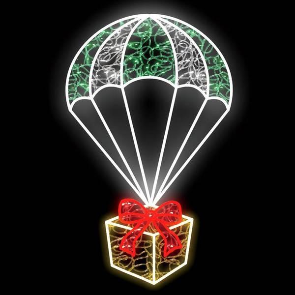 Bilde av Julegave i fallskjerm 57x90 LED figur