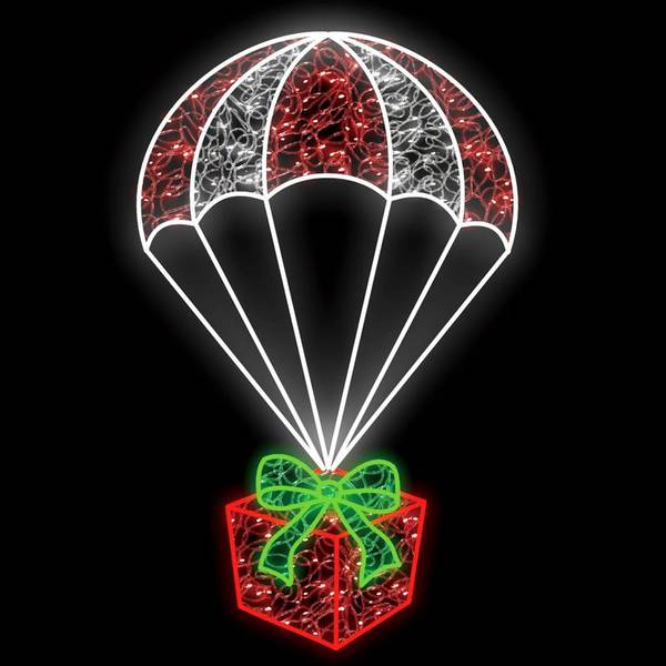 Bilde av Julegave i fallskjerm stor 100x160
