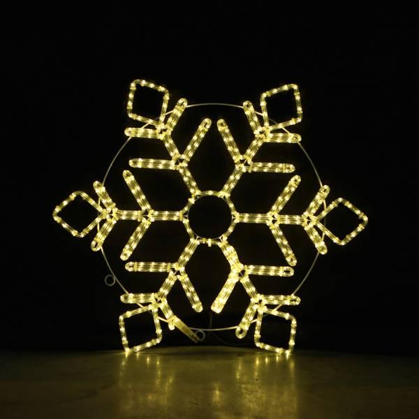 Bilde av Snøfnugg 80x80 cm - statisk lys - varmhvit kompleks design