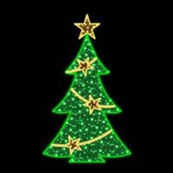 Bilde av Juletre med stjerner 119x200 - 5% autoflash