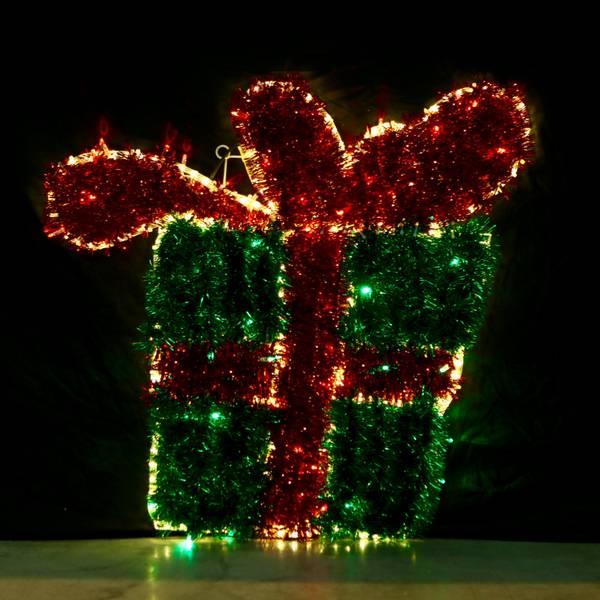 Bilde av Julegave med sløyfe 90x95 cm